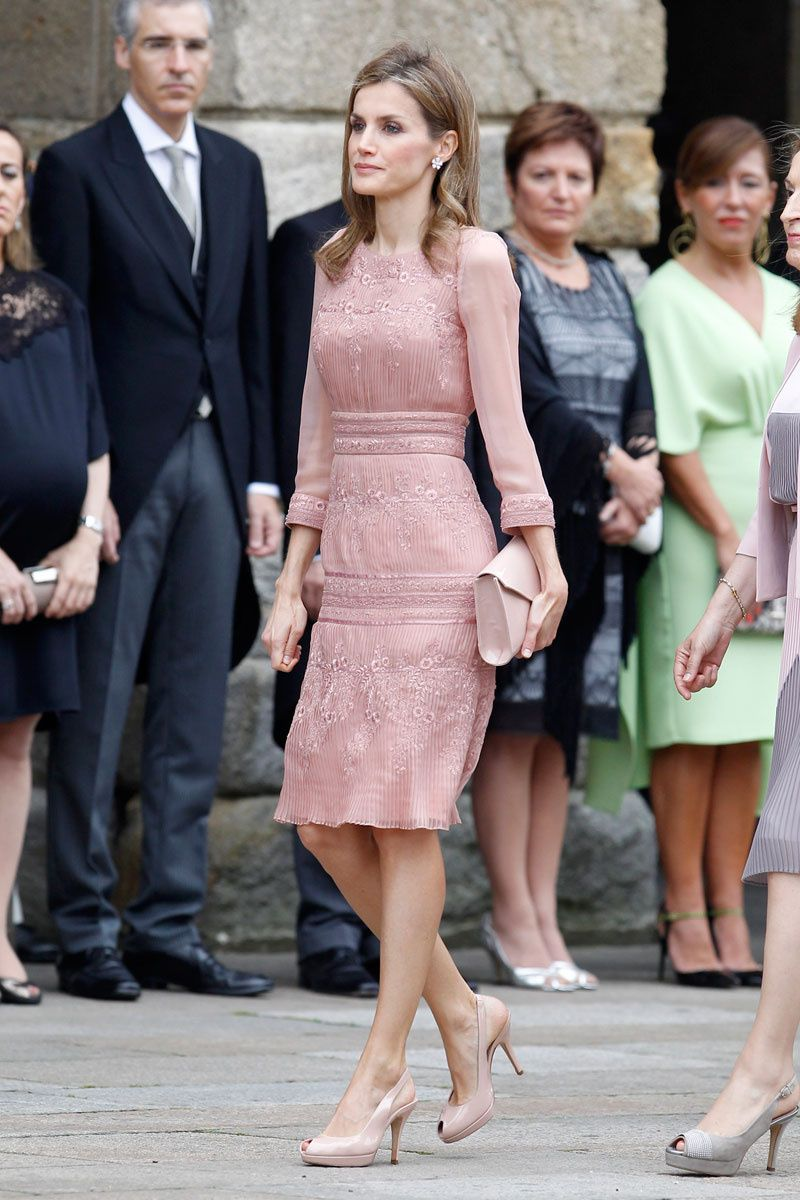 Archivo De Estilo Reina Letizia Compostela Vestido Rosa