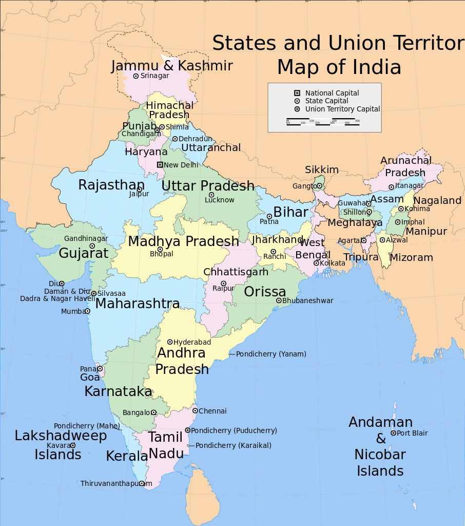 Pin by 4khd on Map of India With States in 2019 States