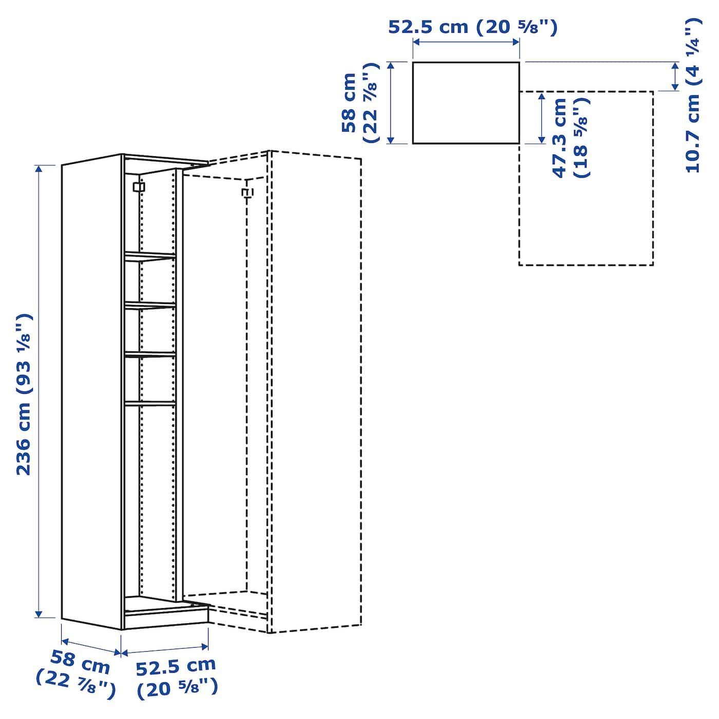 PAX Elemento angolare supplem/4 ripiani effetto frassino