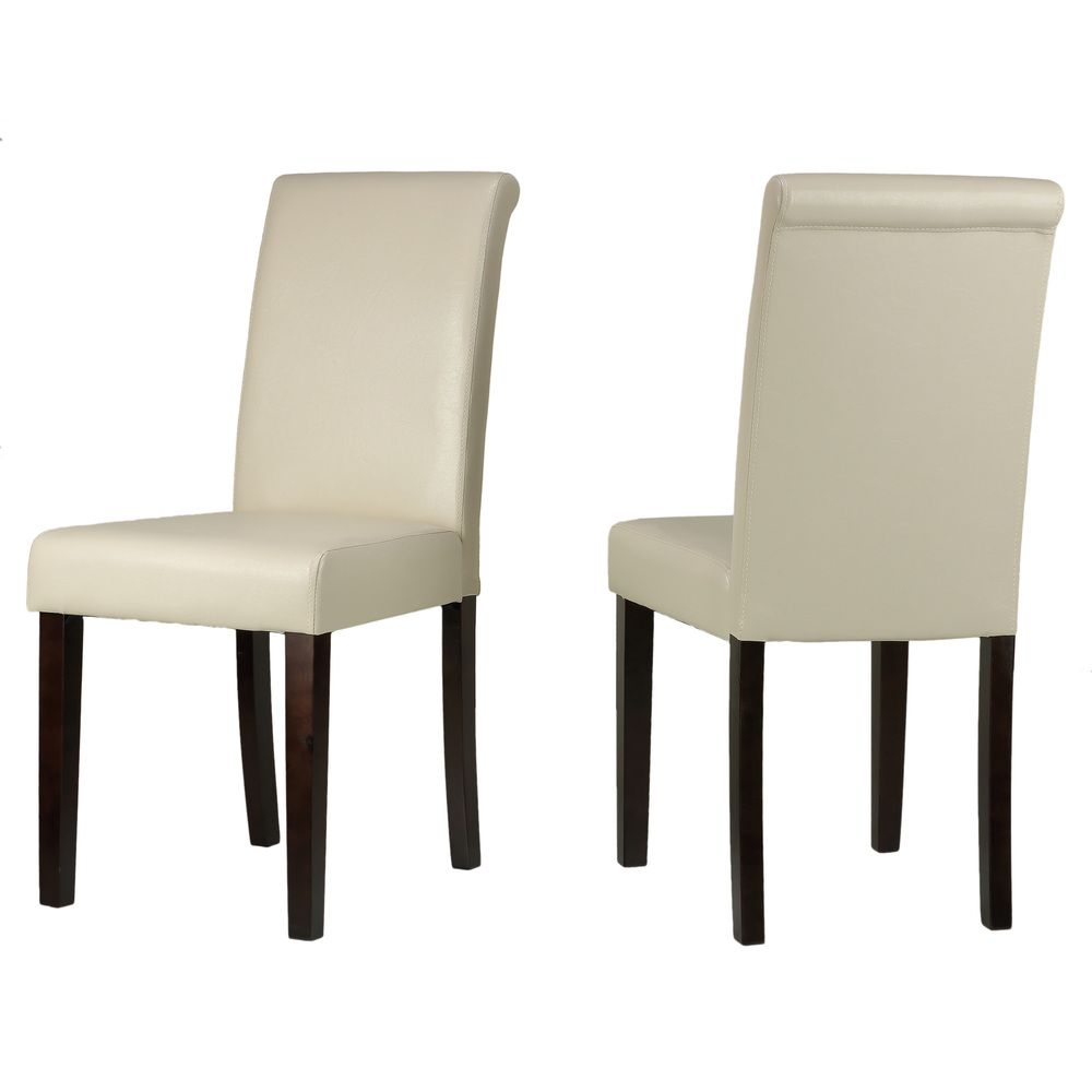 Cortesi Home Cece Cream Vinyl Dining Chairs (Set Of 2)   Overstock™ Shopping