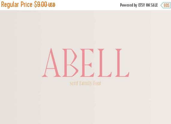 Spring Sale Abell Serif Font Family by Creativewhoa on Etsy - etsy banner template