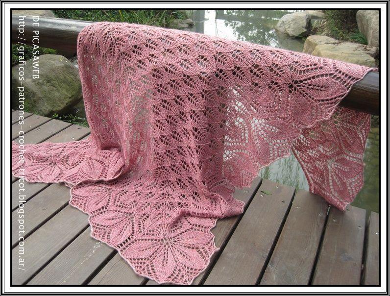 Fantástico Patrón De Crochet Chal Libre Composición - Manta de Tejer ...