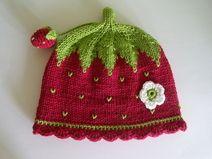 Gestrickte Babymütze Erdbeere Stricken Pinterest