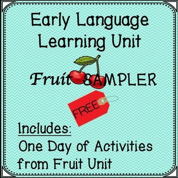 Free sampler of my Early Language Learning Unit with activities, two - Sample Cards