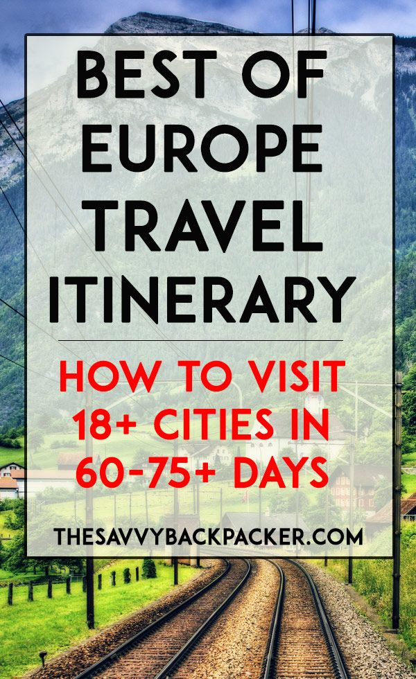 Best of Europe Itinerary For 8-10 Weeks of Travel (19+