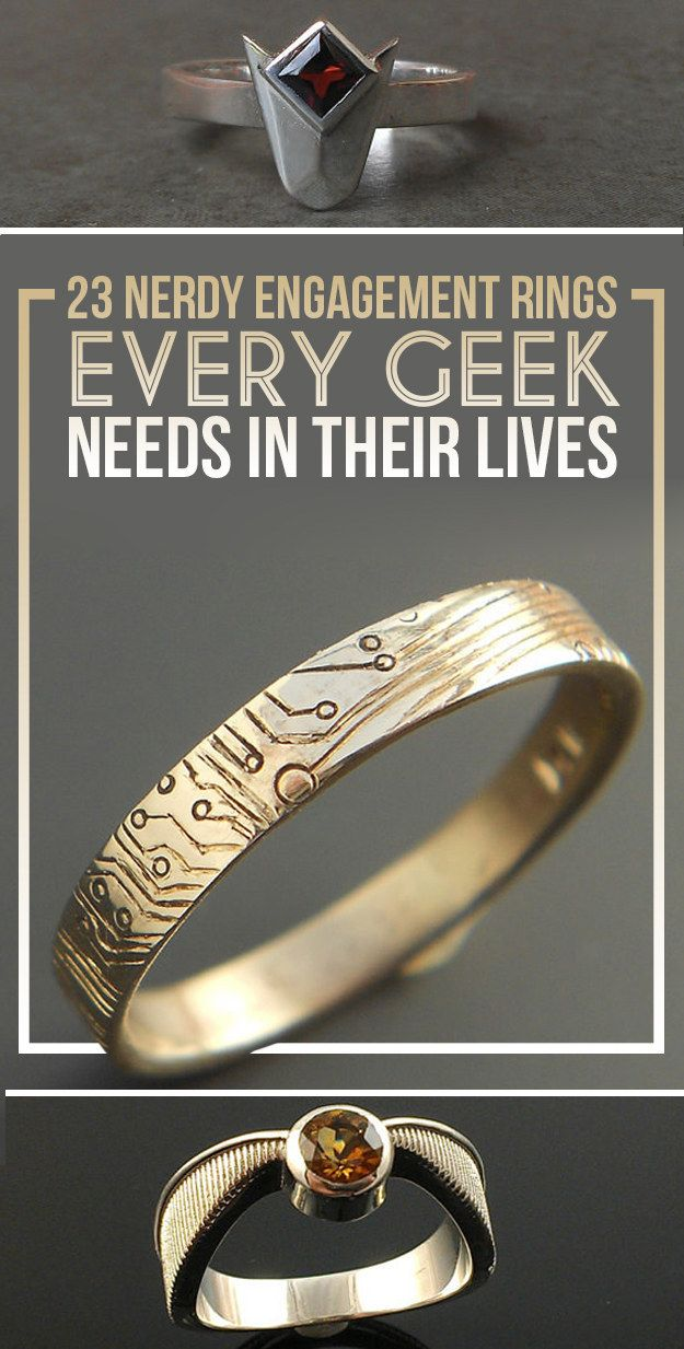 pinterest nerd unique engagement on unusual wedding her him geeky of for images rings amp best