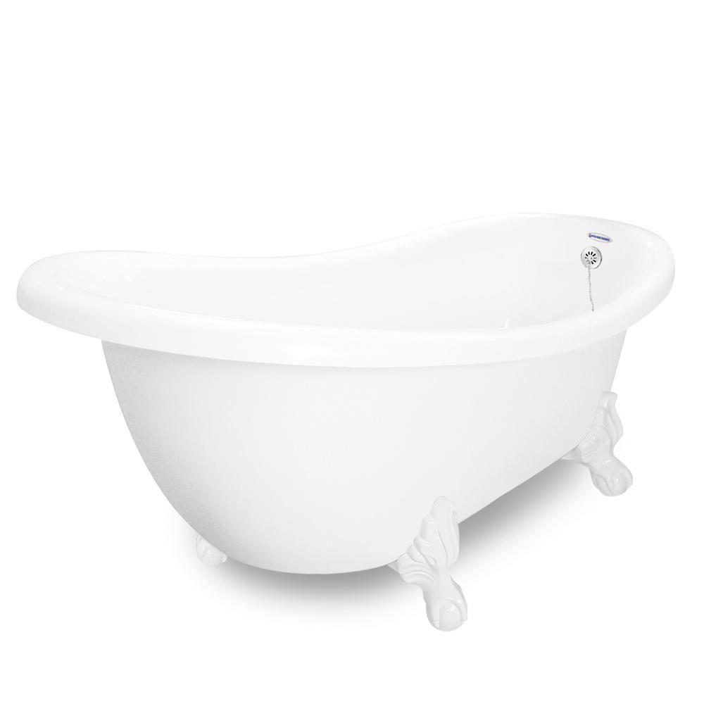 American Bath Factory 71 In Acrastone Slipper Clawfoot Non
