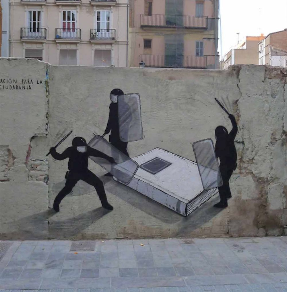 Graffiti art with meaning - The Most Exceptional Examples Of Street Art And Murals About Books Libraries And Reading Spotted In Different Places From All Over The World