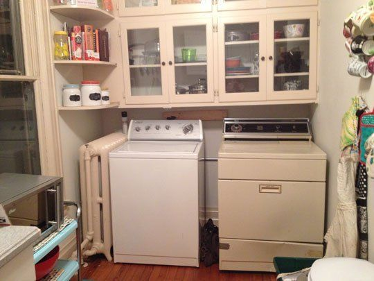 How To Hide Washer & Dryer in Cute Rental Kitchen? | The o\'jays ...