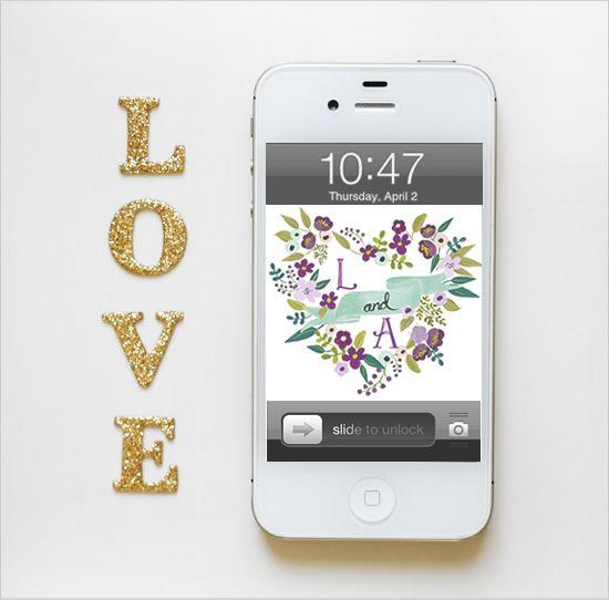 Free Custom Phone Wallpapers Custom Phone Wallpaper Free Wedding Printables Free Iphone Wallpaper