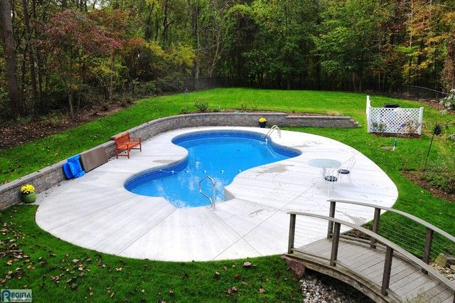 Superieur Small Kidney Shaped Inground Pool Designs For Small Backyard