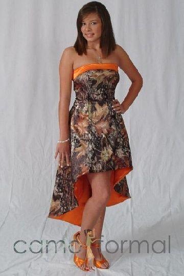 mossy oak camo prom dresses white instead of orange | Western/Camo ...