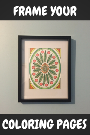 Frame Your Finished Adult Coloring Pages When Youre Done For Easy Wall Art
