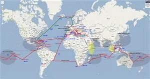 Sailing Routes around the world map - Bing Images | sailing ... on