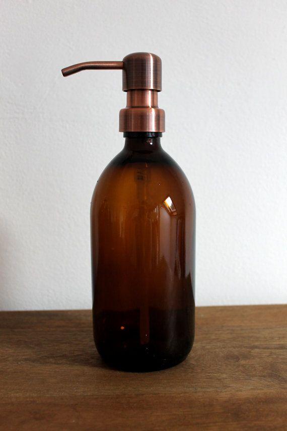 Amber Gl Soap Dispenser Bottle In 250ml 300ml By Kuishihome