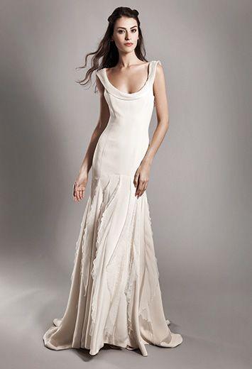 Robe de mariee fourreau createur
