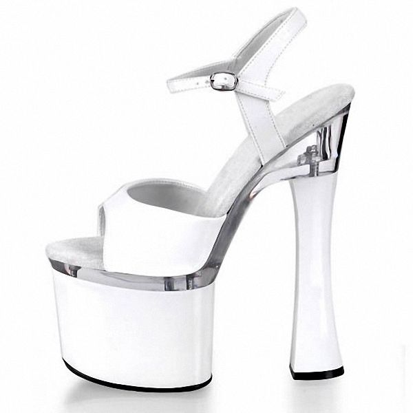 b5b8d335110d HOT SALE 18cm Sexy High Heels Sandals Women 7 Inch Spool Heels Platform High -Heeled