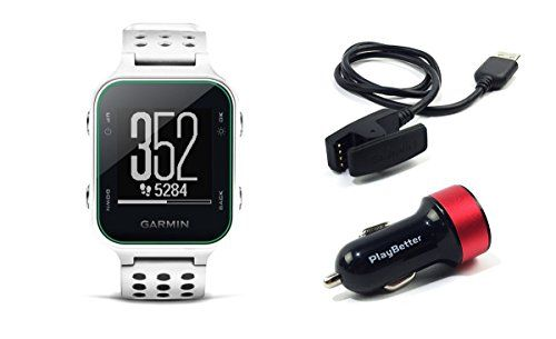 Garmin Approach S20 (White) Golf GPS Watch with PlayBetter