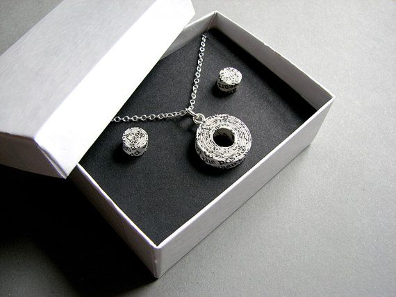 Paper jewellery set personalised st anniversary gift for wife