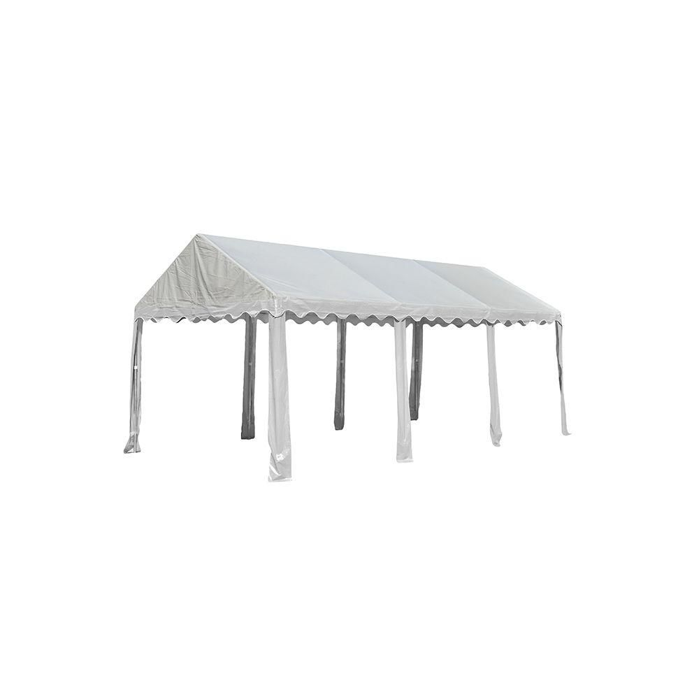 Shelterlogic 10 Ft W X 20 Ft D Party Tent In White With Heavy Duty 100 Waterproof Fire Rated Fabric And Tool Free Assembly White Canopy Tent Outdoor Tent Party White Canopy