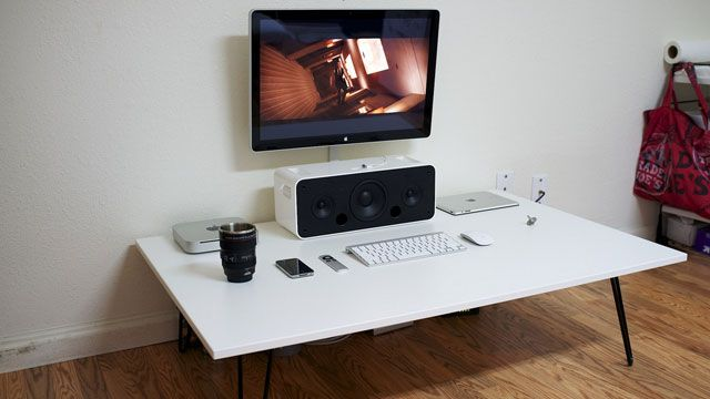 The Low White Workspace Home Office Inspiration Floor Desk