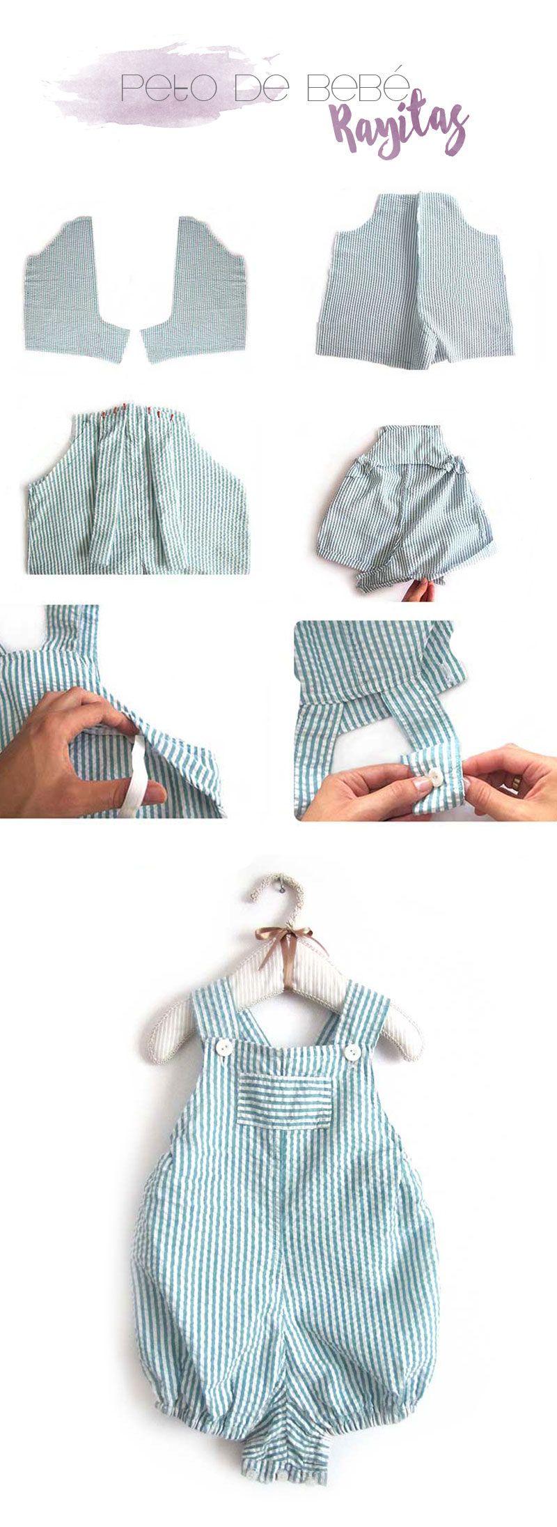 4 tutoriales de ropa de bebé de verano ¡Hazlo tu misma! (Creativa ...
