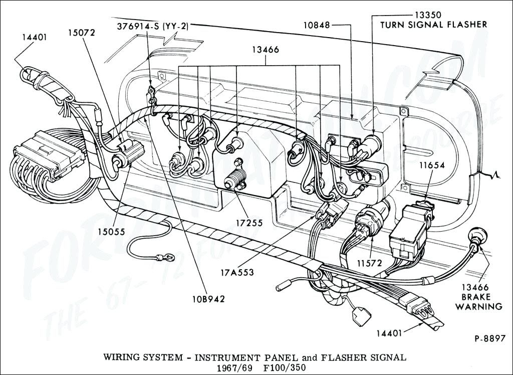 1965 f100 wiring diagram ford truck technical drawings and  f100 65 ford econoline wiring diagram #4