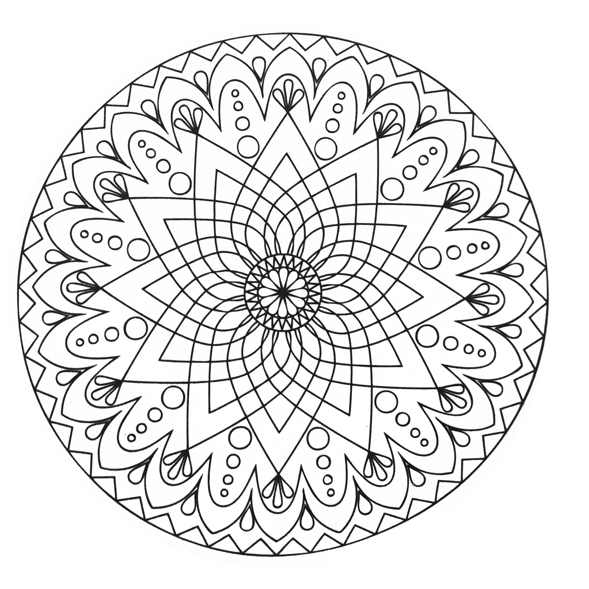 Simple abstract mandala from the gallery mandalas Easy coloring books for adults