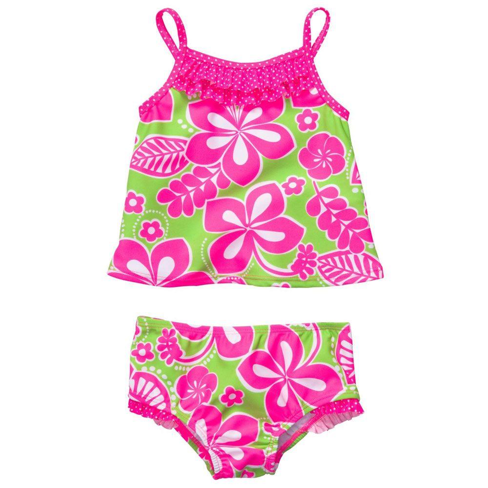 45b5a6d79 Traje de Baño para Niña Flores Rosas OshKosh (2 pzs) - Bebitos $349 #moda # playa #niños #compraenlínea