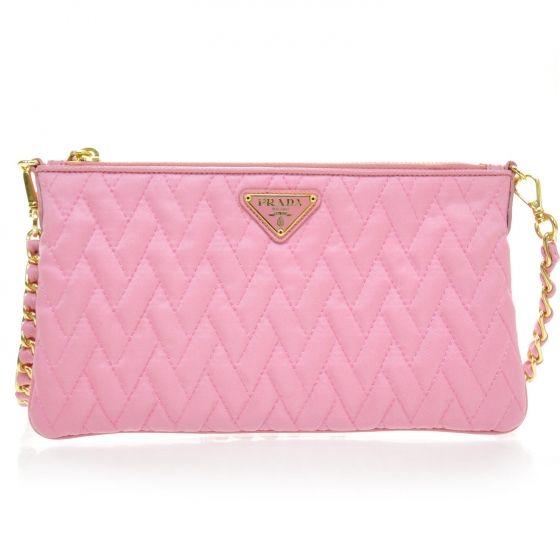 PRADA Tessuto Impuntu Nylon Quilted Sling bag in pink  1b7b28a244c2f