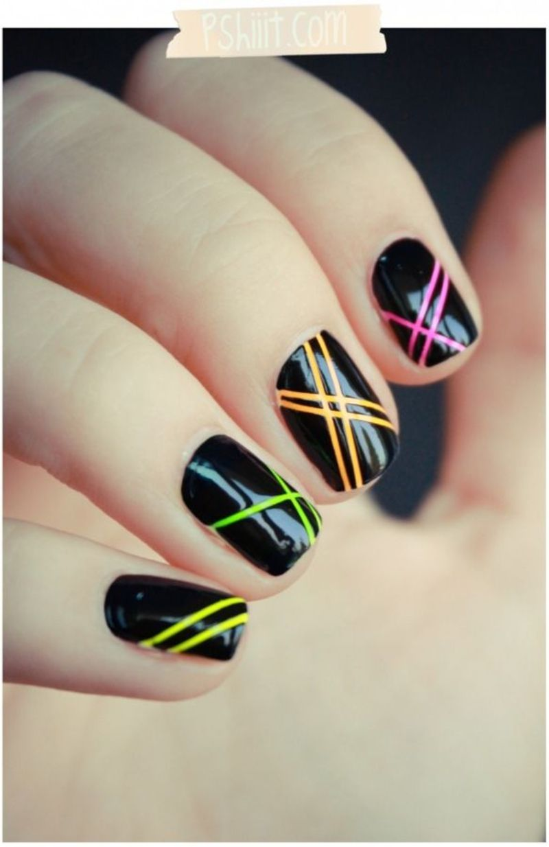 Awesome 80s Nail Art That Will Take You Back To Another Era Easy Nail Art Nail Art Design Gallery Best Nail Art Designs