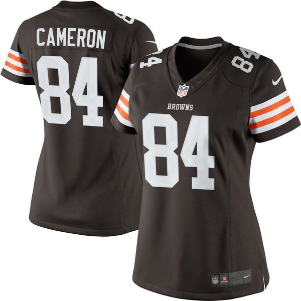 jordan cameron cleveland browns historic logo nike womens limited jersey brown 72.99