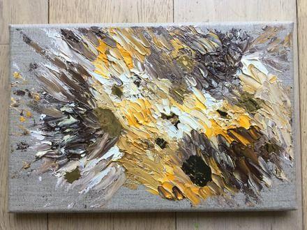 EXPLOSION Tableau abstrait peinture huile Œuvre originale et unique