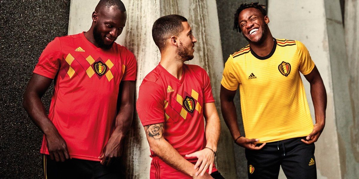 f4e792b90 Belgium 2018 FIFA World Cup Home (Red) and Away (Yellow) Kits ...