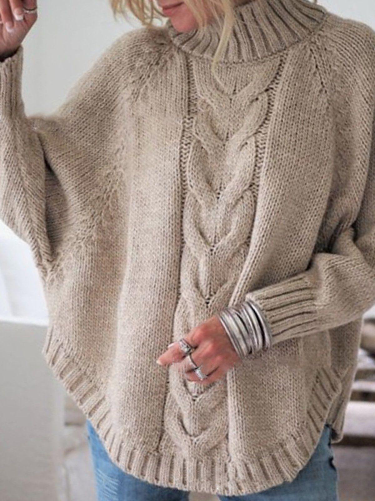 Fubotevic Men Turtleneck Fall Winter Regular Fit Knit Solid Pullover Sweater Jumper
