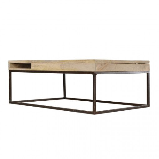 Table Basse Industrielle Table Bois Metal Double Zero Guibox