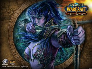 Female Night Elf Hunter Wallpaper World Of Warcraft Night Elf Warcraft Art