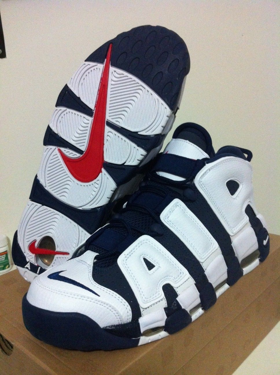 DS Nike Air More Uptempo Olympic Pippen Retro 8.5 Max Team USA Foamposite  KD #SNEAKERS