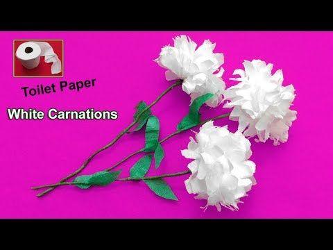 Carnation flowers from toilet tissue paper flower crafts carnation flowers from toilet tissue paper mightylinksfo