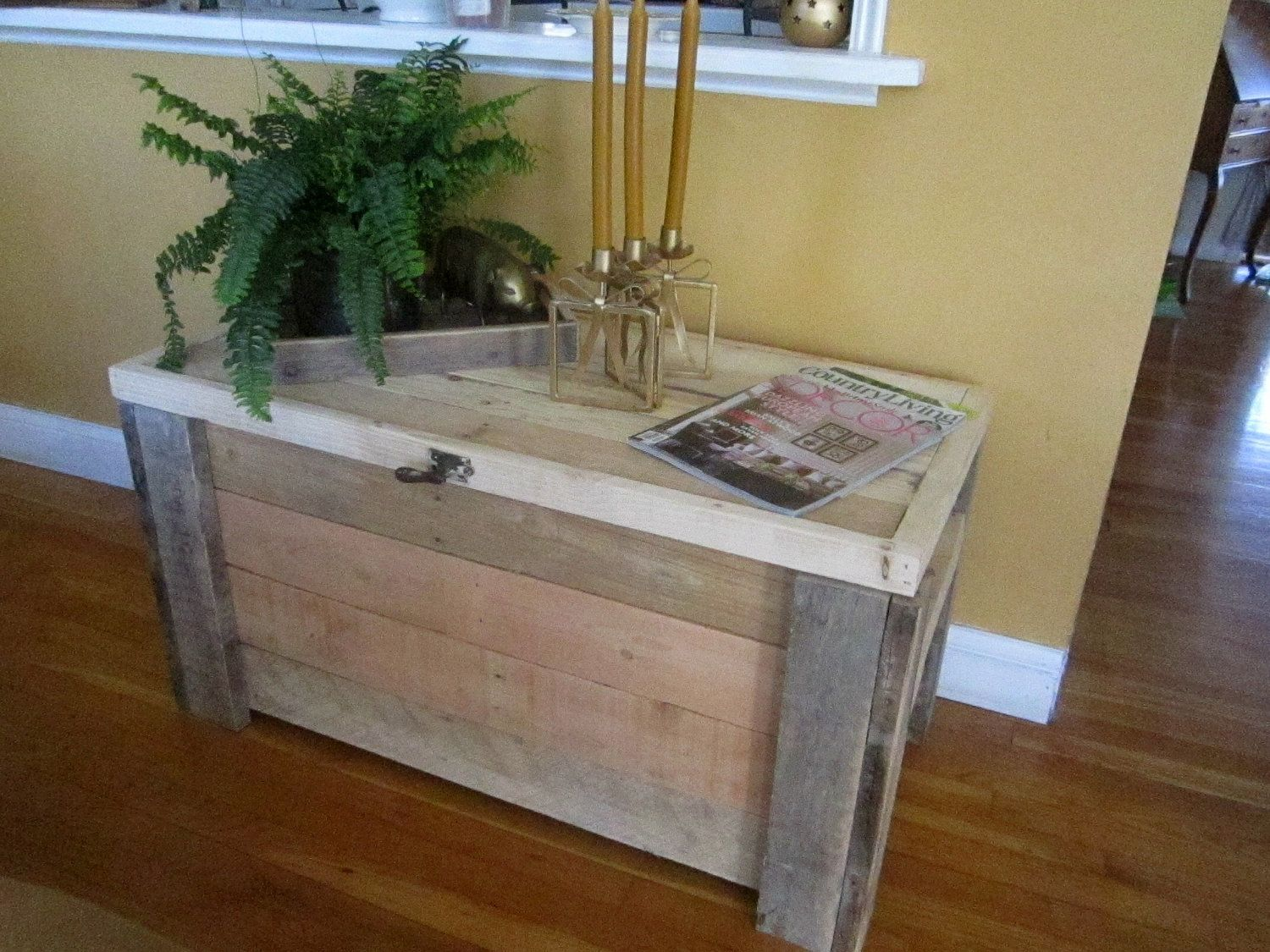Hope Chest ,Blanket Chest ,Storage Chest, Coffee Table. $400.00, Via Etsy