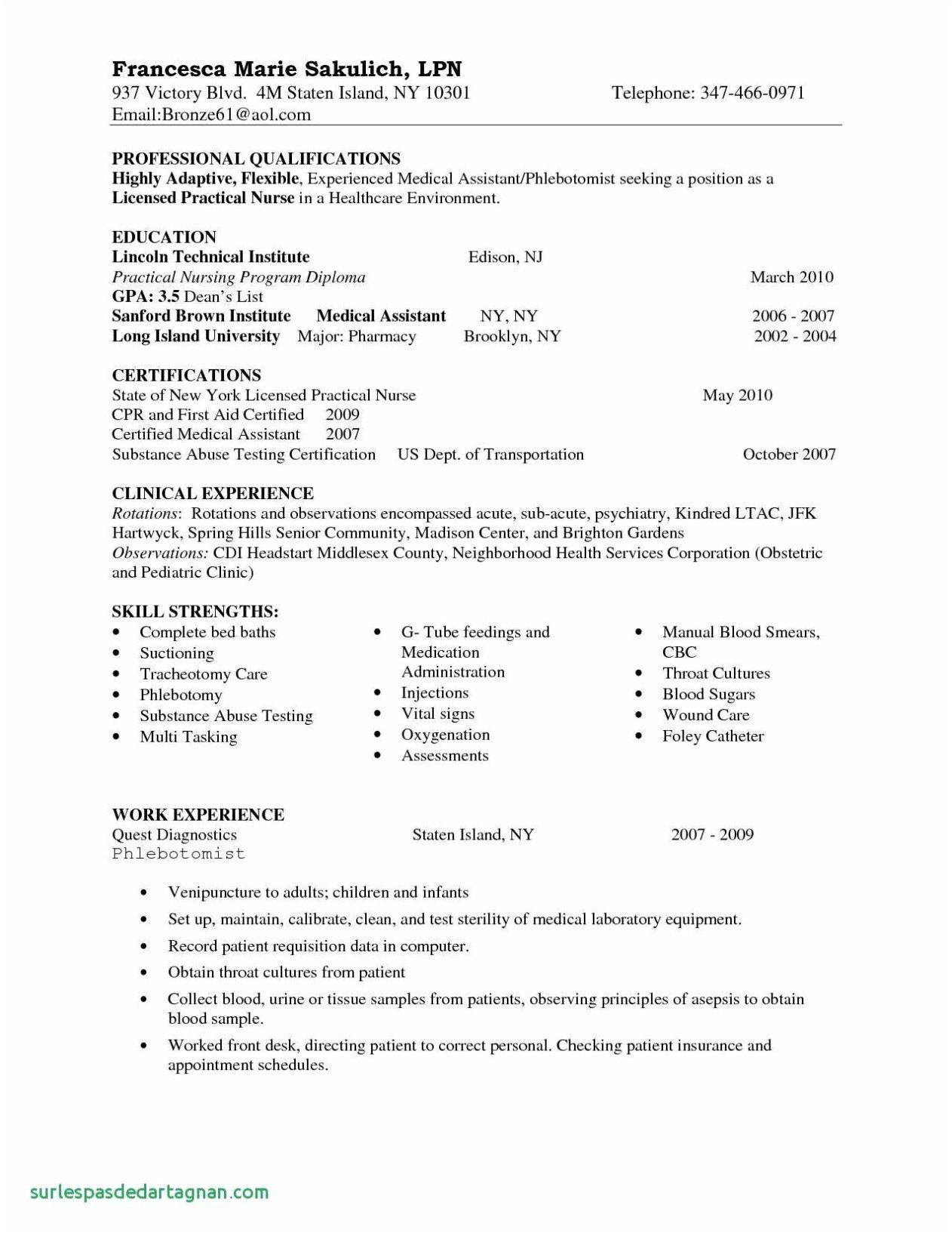 32 Beautiful New Grad Registered Nurse Resume Sample in