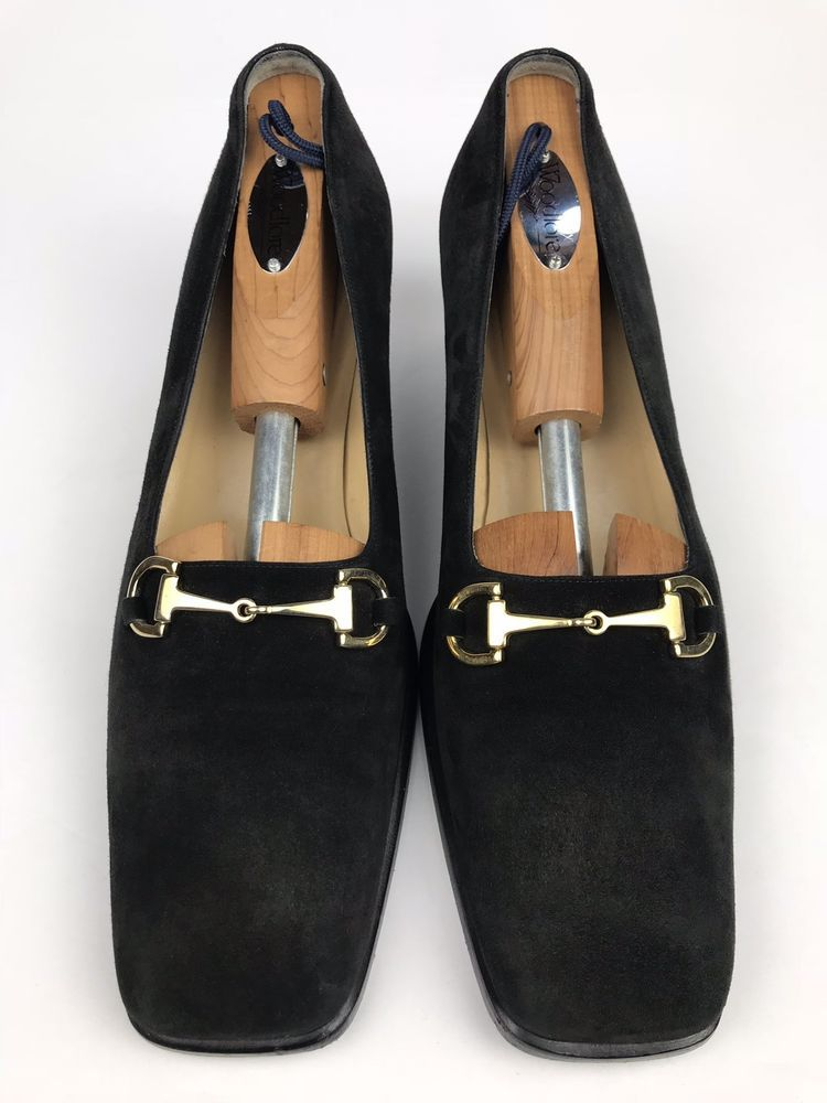 82b4edd798a Gucci Horsebit Loafers Pumps Heels 101 1420 Suede Black Womens US Size 9 B   fashion  clothing  shoes  accessories  womensshoes  heels (ebay link)