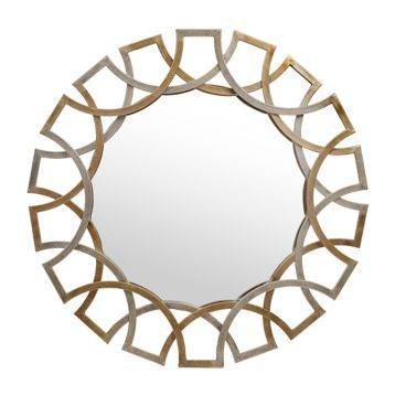 Antique Gold And Silver Jaxson Mirror Mirror Circular