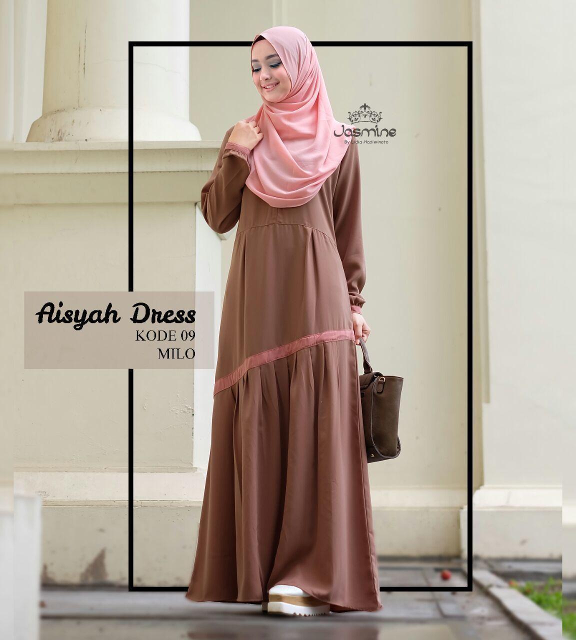 Gamis Jasmine Aisyah Dress 9 Baju Gamis Wanita Busana Muslim