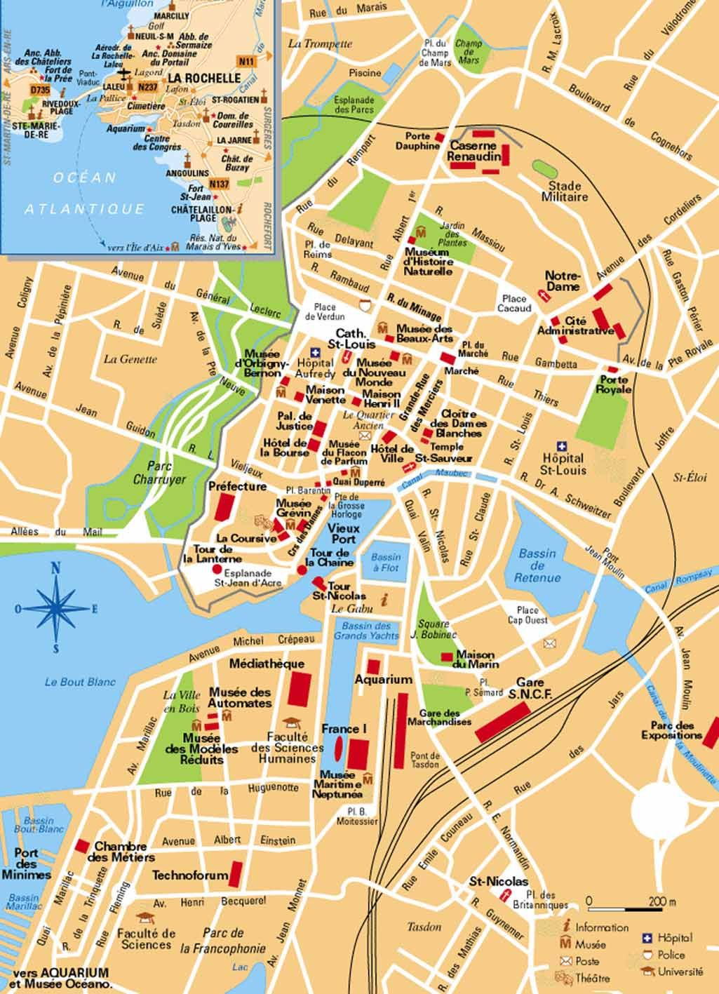 Plan De Ville De Chatelaillon Plage