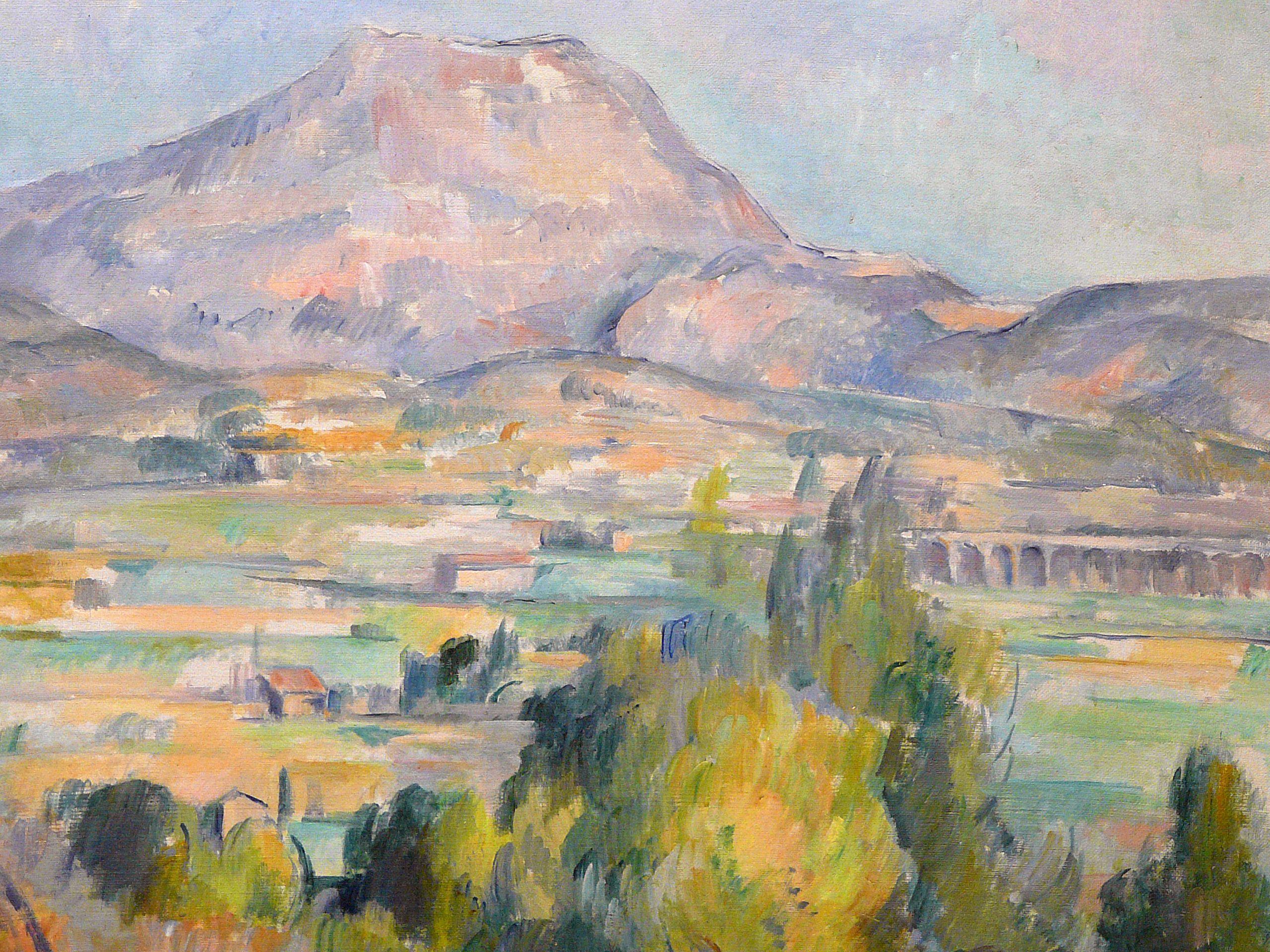 Cezanne 1890 Montagne Ste Victoire Orsay Detail B Tags