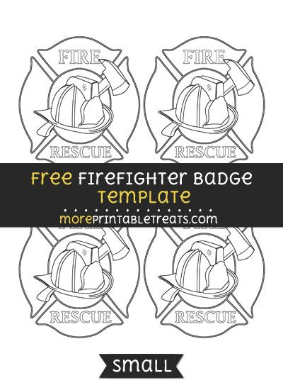 free firefighter badge template small shapes and templates