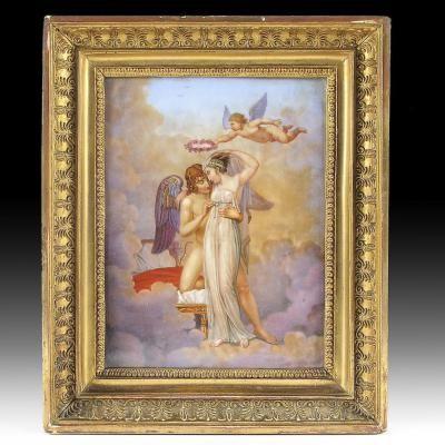 Peinture Sur Un Plaque En Porcelaine Représe[...]