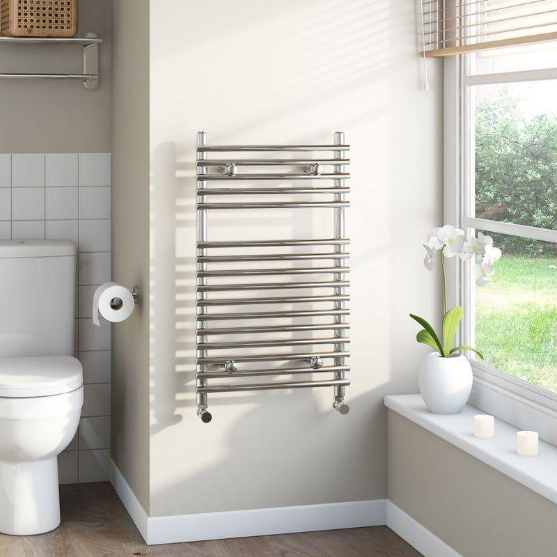 The Heating Co Derwent Heated Towel Rail Towel Rail Heated Towel Rail Short Projection Toilet