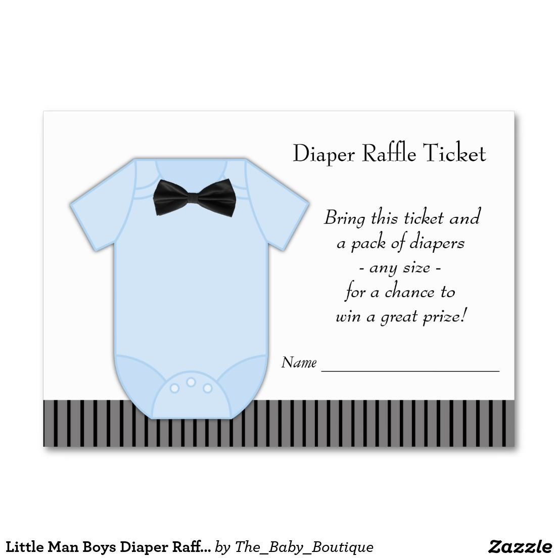 Little Man Boys Diaper Raffle Tickets Large Business Cards (Pack Of ...